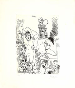 6 avril 1968 - Original Etching by Pablo Picasso - 1968