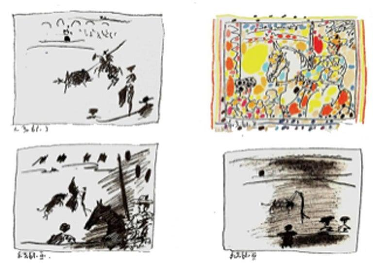 A Los Toros Avec Picasso (Set of Four) - Print by Pablo Picasso