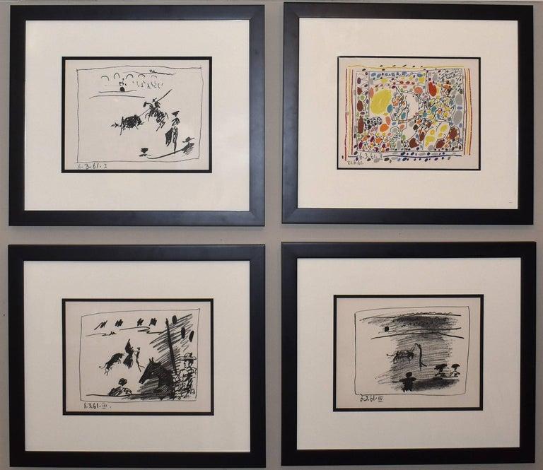 Pablo Picasso Landscape Print - A Los Toros Avec Picasso (Set of Four)