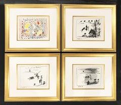 A Los Toros Avec Picasso (Set of Four)