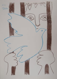 Amnistia (Dove and Freedom) - Lithograph 1957 (Czwiklitzer #152)