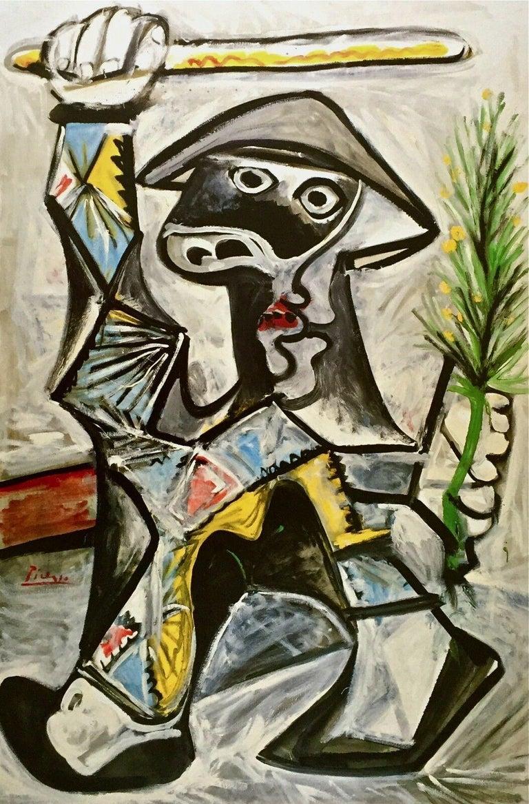 Arlequin au Baton, 1987 Exhibition Offset Lithograph - Print by Pablo Picasso