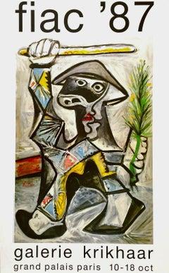 Arlequin au Baton, Original 1987 Event Lithograph, Pablo Picasso