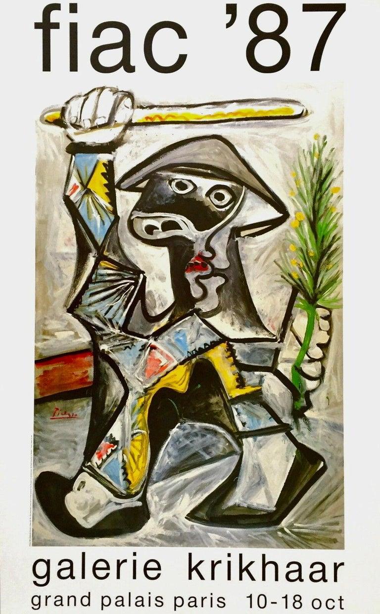 Pablo Picasso Abstract Print - Arlequin au Baton, 1987 Exhibition Offset Lithograph