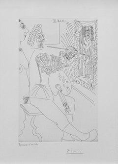 ARTISTE PEINTRE AU TRAVAIL, AVEC UN MODELE LAID, FROM SERIES 347 (BLOCH 1711)