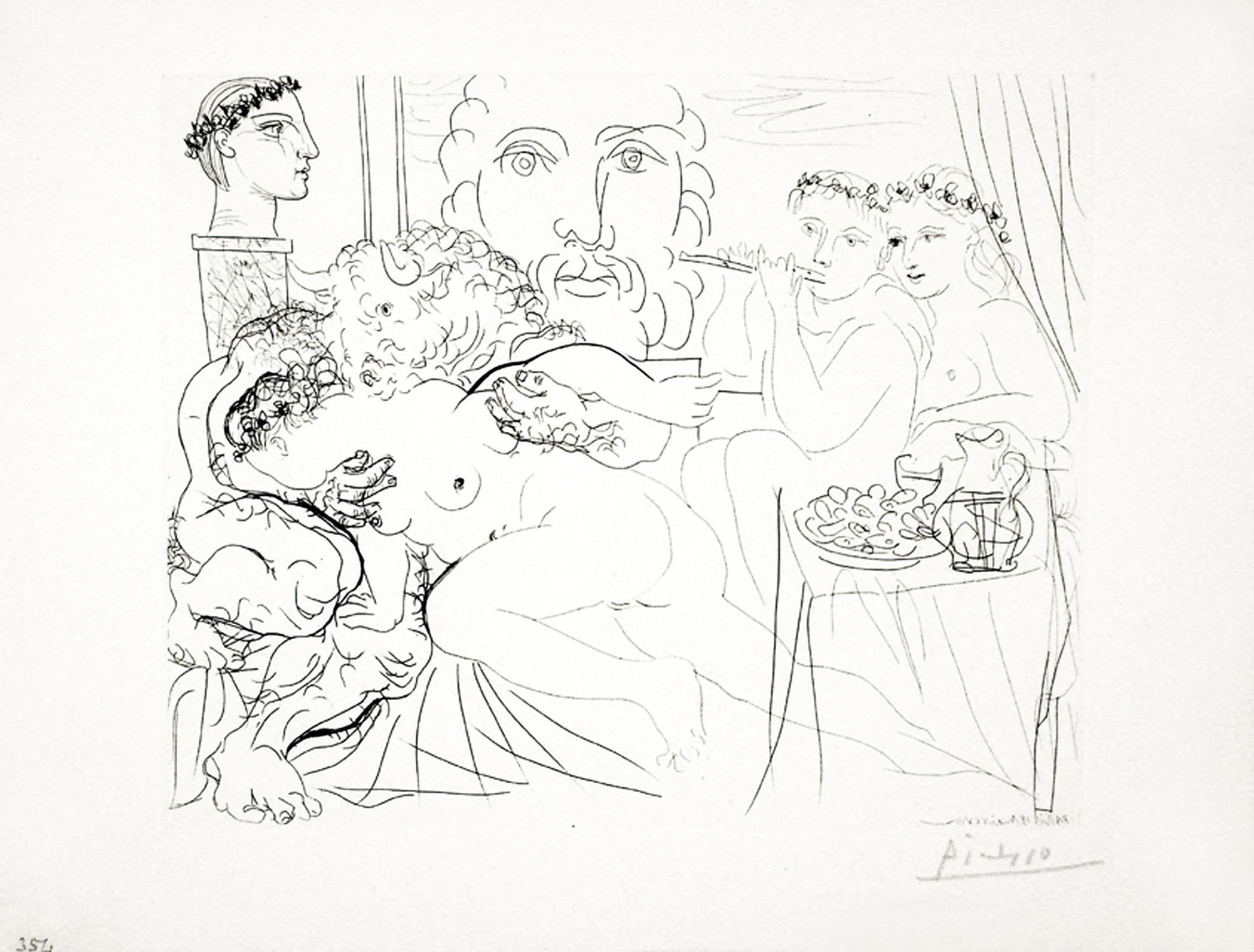 Autoportrait Trois Formes : Peintre couronné, Sculpteur en Buste et Minota B191