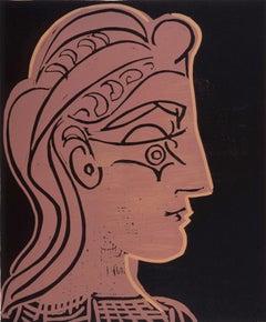 B0905 Tête de femme (de profil)