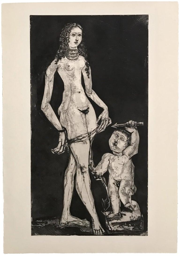 Pablo Picasso: Venus et l'amour, d'après Cranach Bloch 1835 - Print by Pablo Picasso