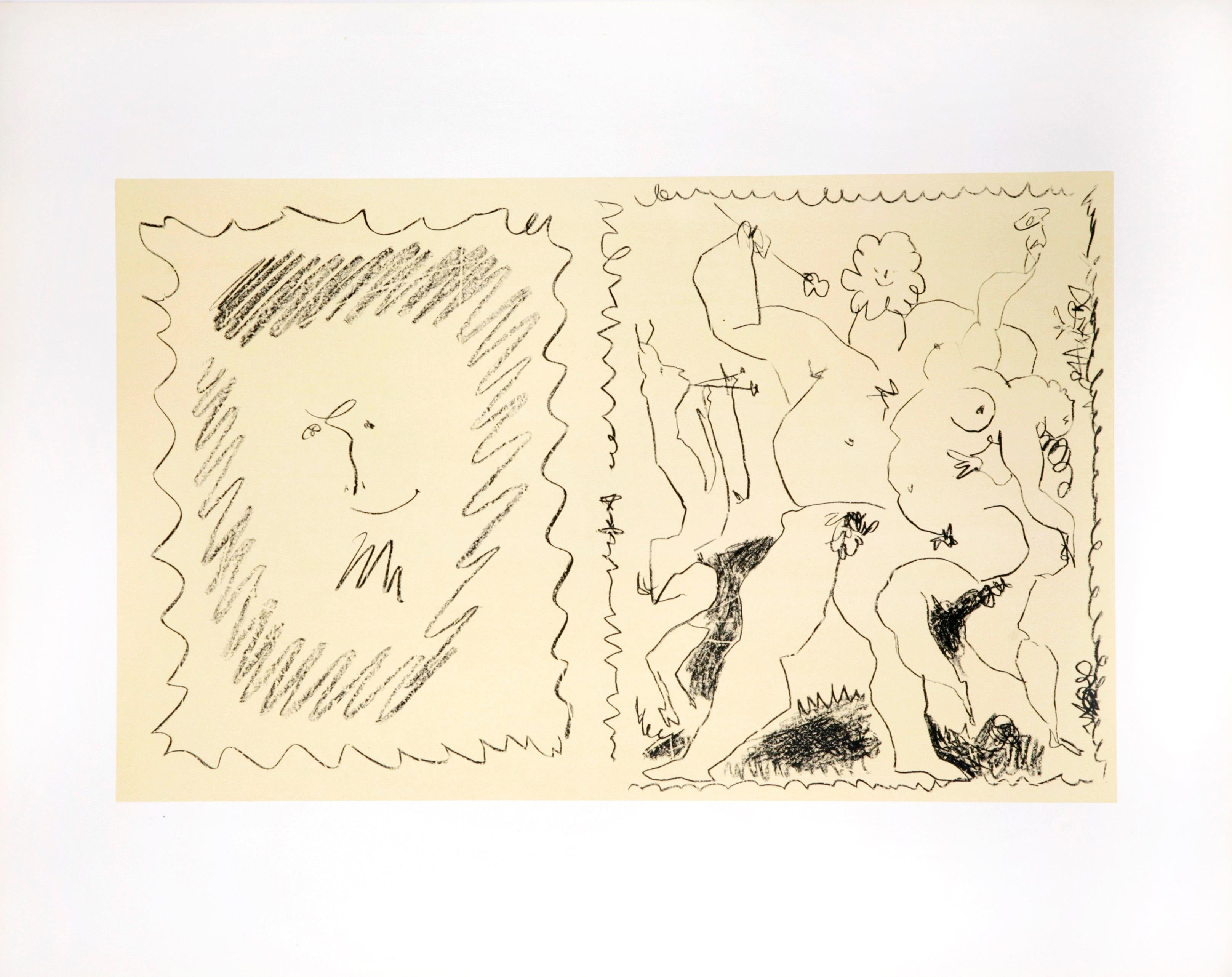 Bacchanal by Pablo Picasso - Lithograph 1955