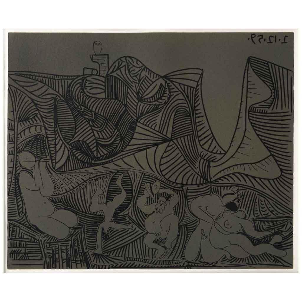 Bacchanale au Hibou - Grabados al Linóleo, 1963