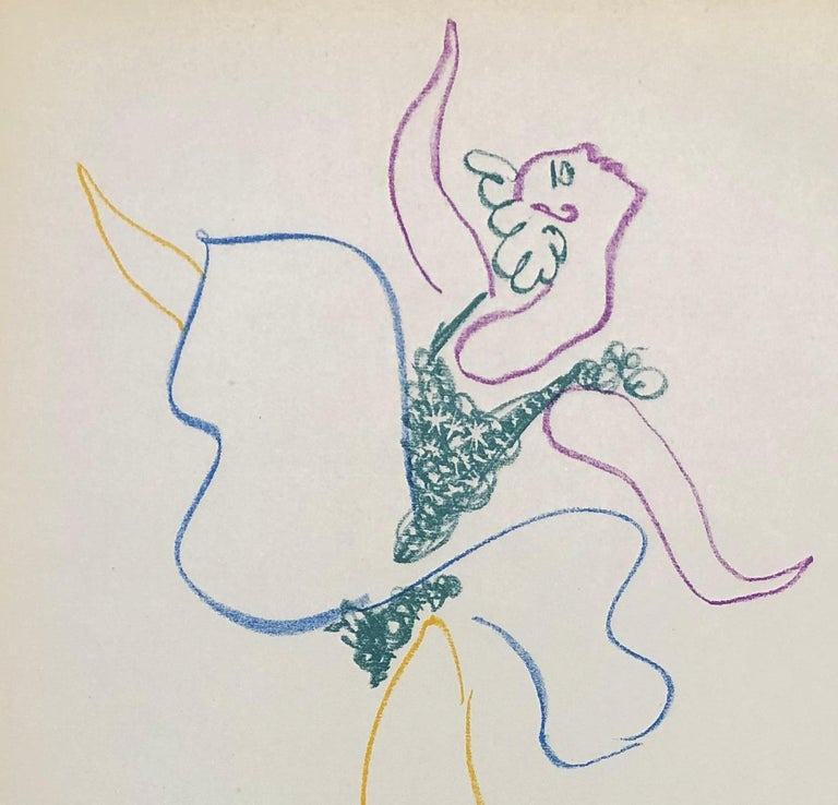 Pablo PICASSO The Dancer  Original lithograph, 1954 Signed in the plate On light vellum, size 31 x 22 cm (c. 12,2 x 8,7 in) Very good condition  REFERENCE : Catalog raisonné Bloch 767 / Hatje 656 NOTE : This is the original edition, not a modern