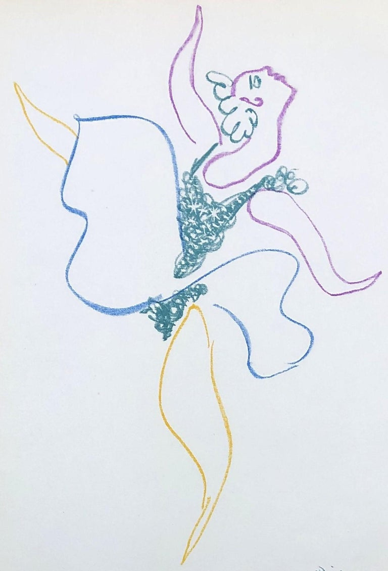 Ballet : The Dancer - Original Lithograph - Printed Signature #Ref. Bloch #767 For Sale 3