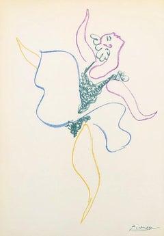 Ballet : The Dancer - Original Lithograph - Printed Signature #Ref. Bloch #767