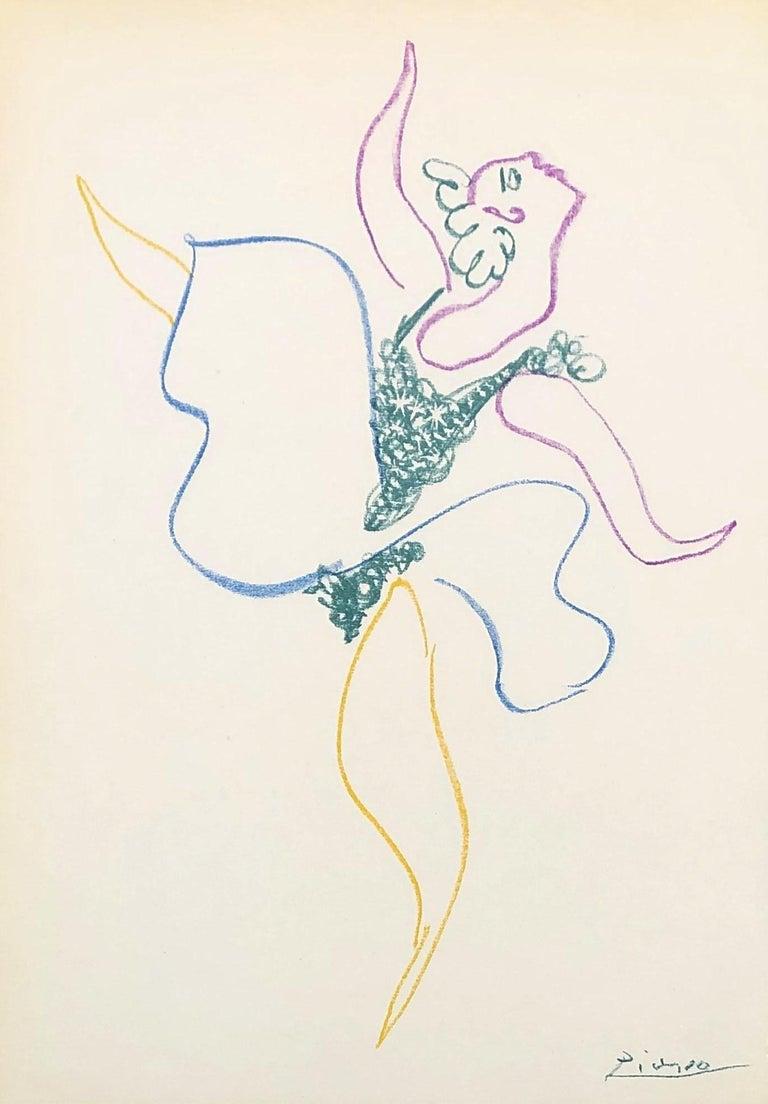 Pablo Picasso Figurative Print - Ballet : The Dancer - Original Lithograph - Printed Signature #Ref. Bloch #767