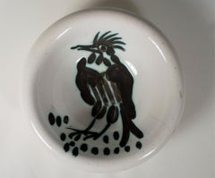 'Bird with tuft (Oiseau à Ia huppe)' Madoura ceramic bowl, Edition Picasso
