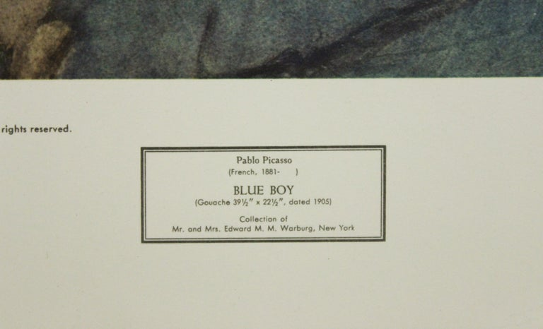 Blue Boy-Poster. Copyright New York Graphic Society Ltd.  - Print by Pablo Picasso