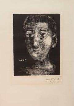 Boy's Head - Original Etching Handsigned - 50 copies