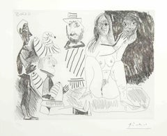 Bundle of Three Original Etchings by P. Picasso - 29-3-1971/11-3-1971/13-4-1970