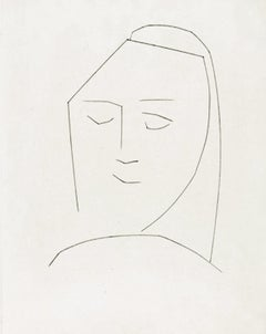 Carmen Head of a Woman with Closed Eyes (Plate XXII)