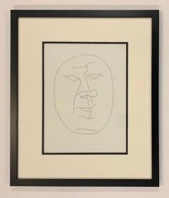 Carmen, Oval Head of a Man Looking Left (Plate XXIV)