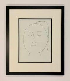 Carmen, Oval Head of a Woman with Hair (Plate XIX)