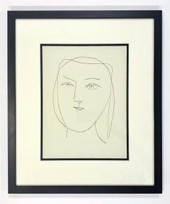Carmen, Oval Head of a Woman with Piercing Eyes (Plate XXI)
