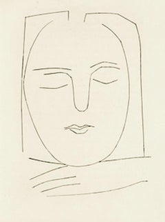 Carmen Oval Head of a Woman with Square Hair (Plate XX)