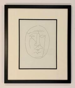 Carmen, Oval Head of Man Looking Straight (Plate XXIII)