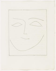 Carmen Square Head of a Woman Half Smiling (Plate XII)