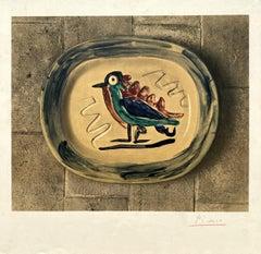Ceramic Bird - Lithograph hand signed - Mourlot