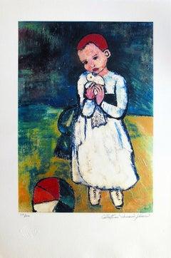 Child holding  Dove