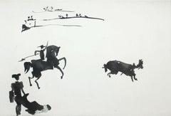 Citando al Toro con el Rejon (Summoning the Bull with the Spear)