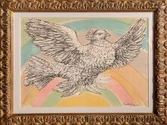 Colombe Volant (a l'Arc-en-ciel), Lithograph by Pablo Picasso 1952