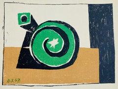 Composition en 3 Couleurs; Composition in 3 Colors,a Lithograph by Pablo Picasso