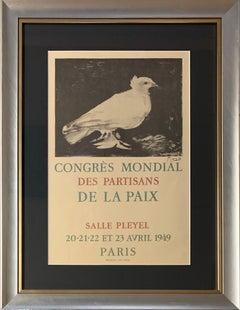 Congrès mondial des partisans de la paix, Lithograph Poster 1949