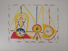 Cubist Composition with Glass - Original lithograph - Mourlot #32