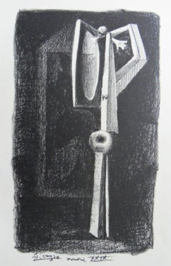 Cubist Nude - Original lithograph, 1929