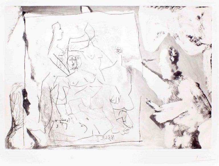 Dans l' Atelier - 1960s - Pablo Picasso - Aquatint - Modern - Print by Pablo Picasso
