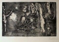 Dans l'Atelier - 1960s - Pablo Picasso - Etching - Modern