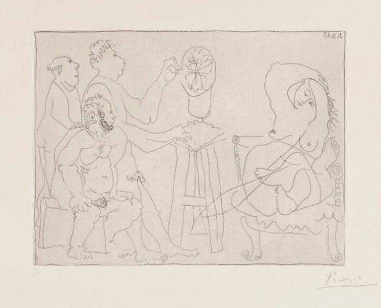Pablo Picasso Figurative Print - Dans l'Atelier du Sculpteur
