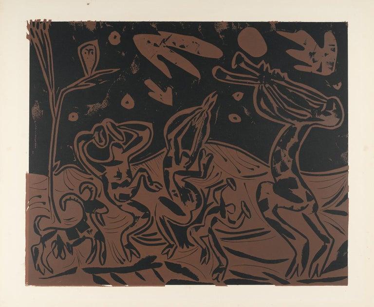 Pablo Picasso Animal Print - Danse nocturne avec un Hibou (Bloch 936)