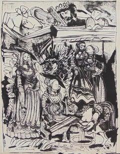 David and Bathsheba (After Lucas Cranach) II Religious Jewish Modern