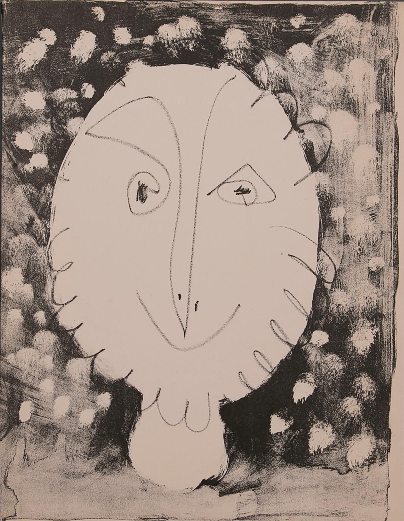 Deux Tetes, I - Lithograph by Pablo Picasso 1949