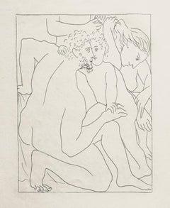 Deucalion et Pyrrha Créent un Nouveau Genre Humain - by Pablo Picasso
