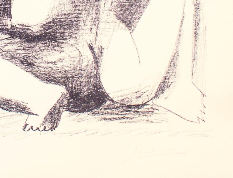 Deux Femmes Accroupies - Original Lithograph by Pablo Picasso - 1956 For Sale 2