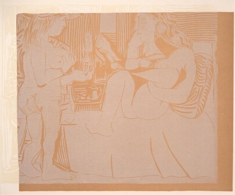 Deux Femmes avec un Vase a Fleurs - Print by Pablo Picasso