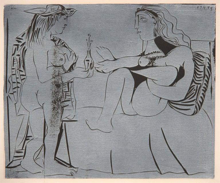 Deux Femmes avec un Vase a Fleurs - Modern Print by Pablo Picasso