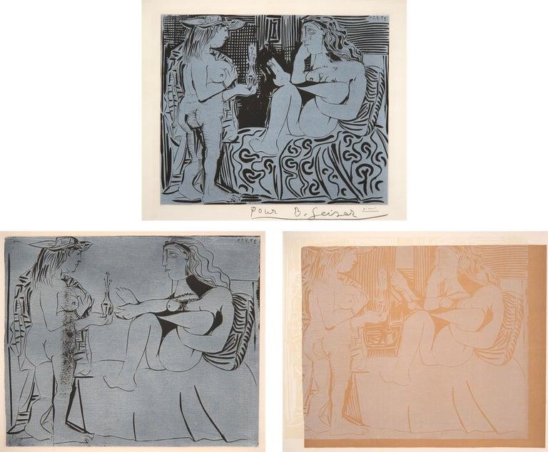 Pablo Picasso Nude Print - Deux Femmes avec un Vase a Fleurs