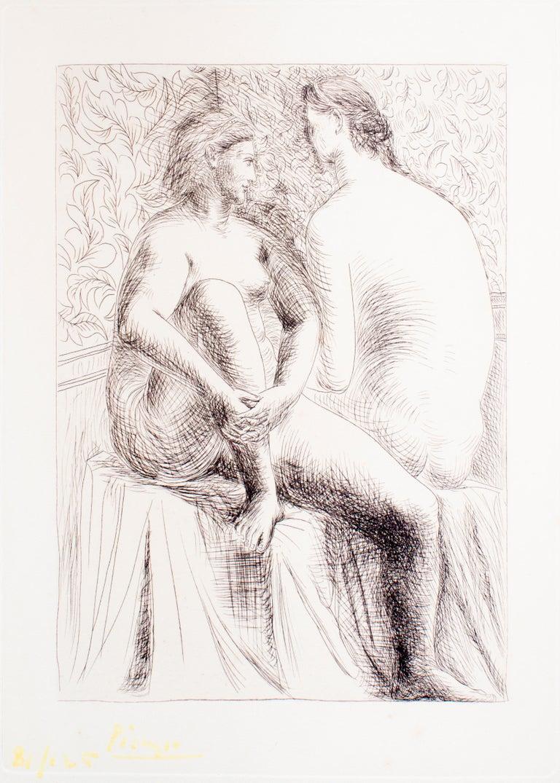 Deux Femmes Nues - Original Etching by Pablo Picasso - 1930 For Sale 2