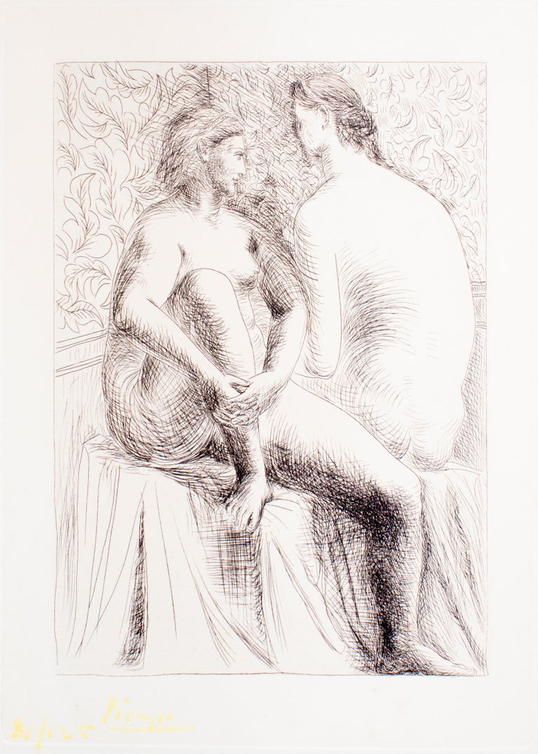 Pablo Picasso Etching on wove paper 1930 Signed in yellow ink and numbered 81/125 Printed by Fort, Paris, 1931 Published by Albert Skira, Paris Ref. Bloch n.132. Excellent conditions, the signature attenuated (as usual with this edition)  Due to the